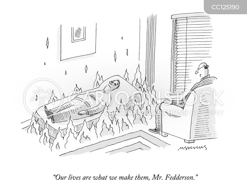 burn cartoon