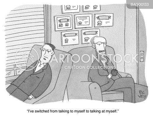 talking to myself cartoon