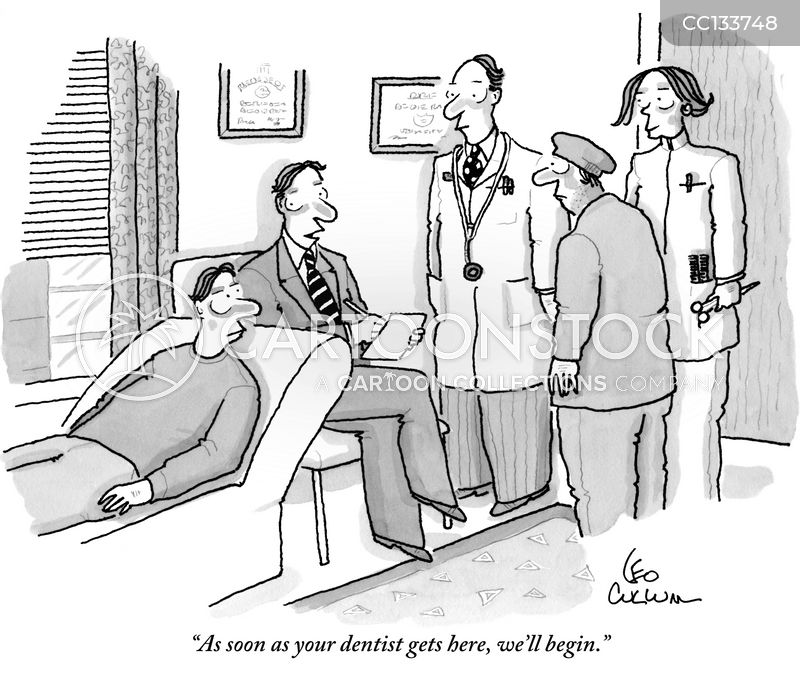 dentist cartoon