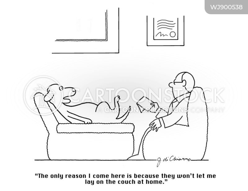 therapy session cartoon