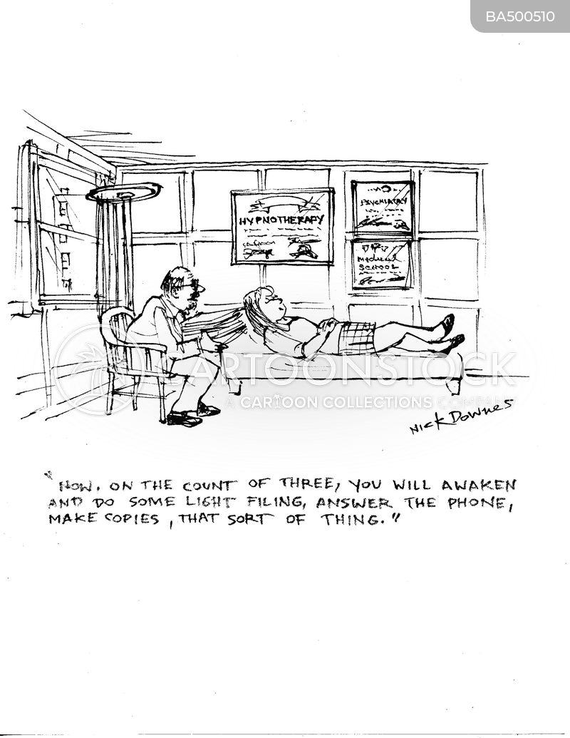 hypnotherapists cartoon