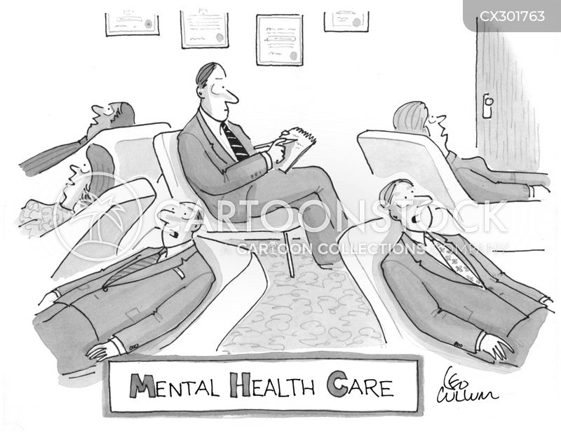 mental health problem cartoon