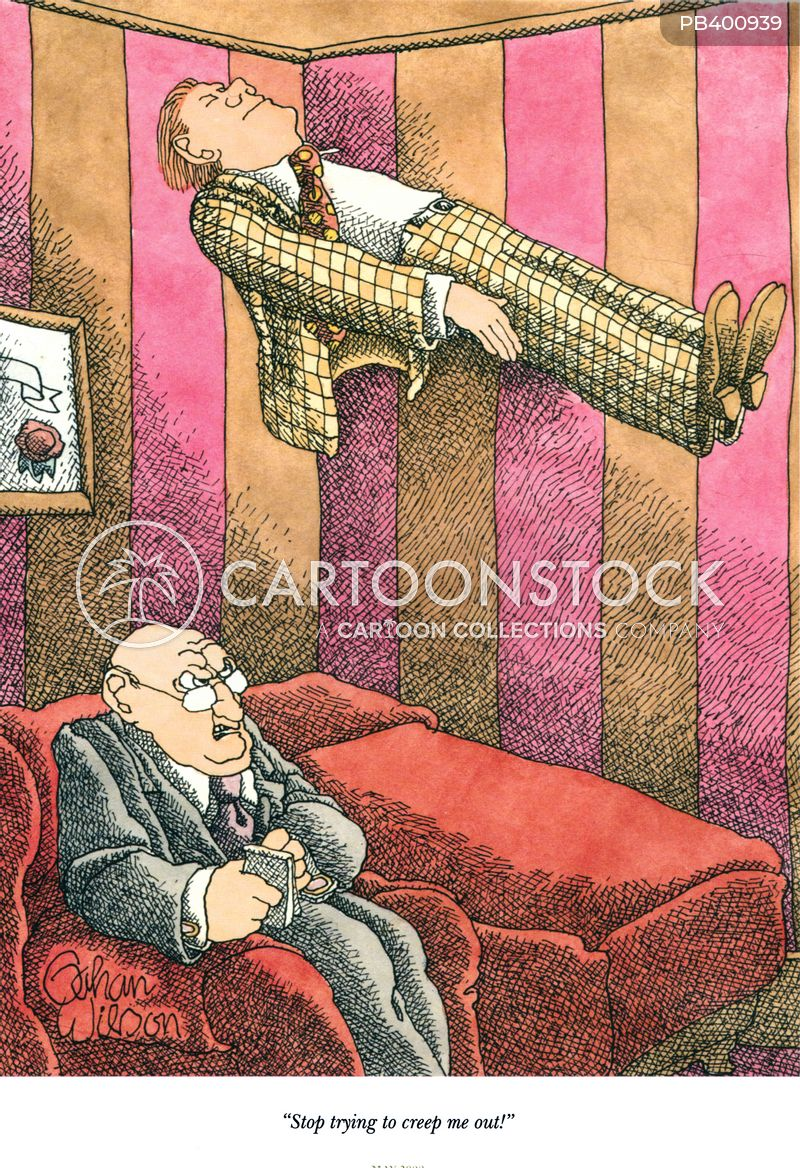 levitating cartoon