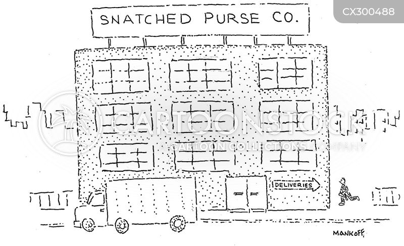 bag snatching cartoon