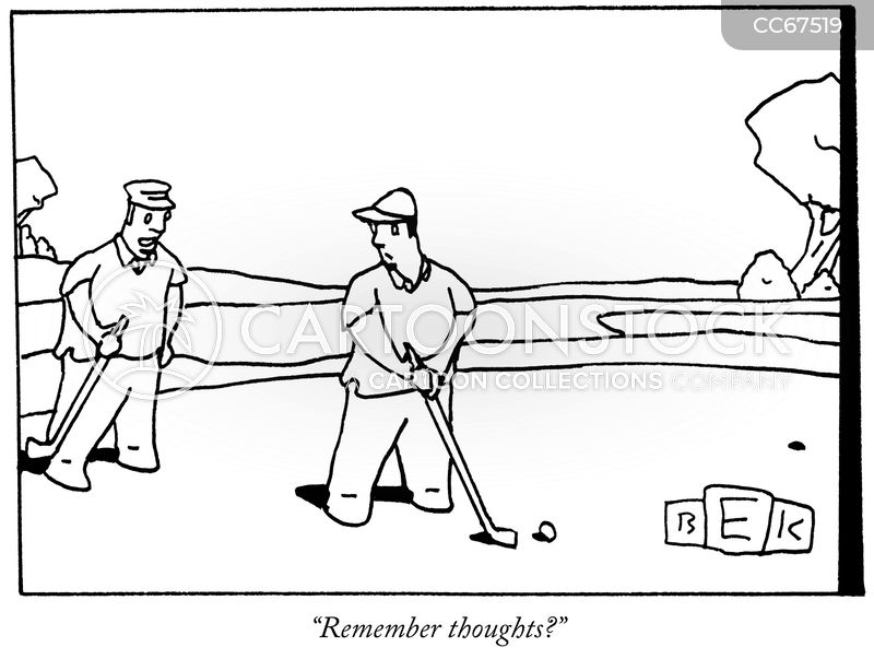 golf game cartoon