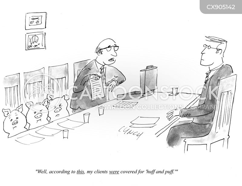 insurance policy cartoon
