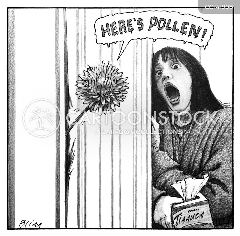 Allergic To Pollen cartoon