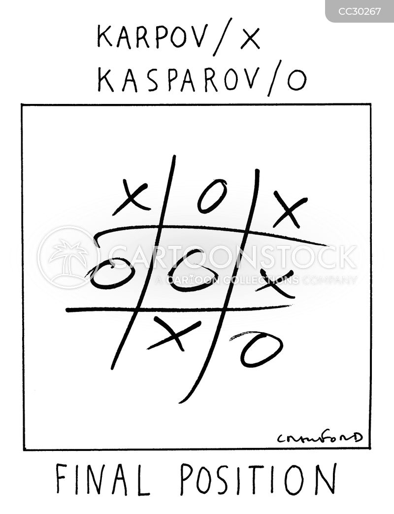 noughts and crosses cartoon