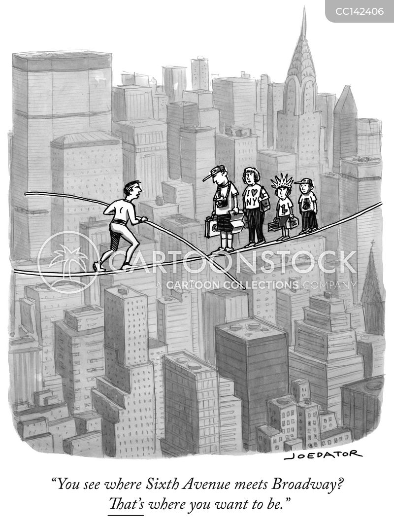 tightrope cartoon