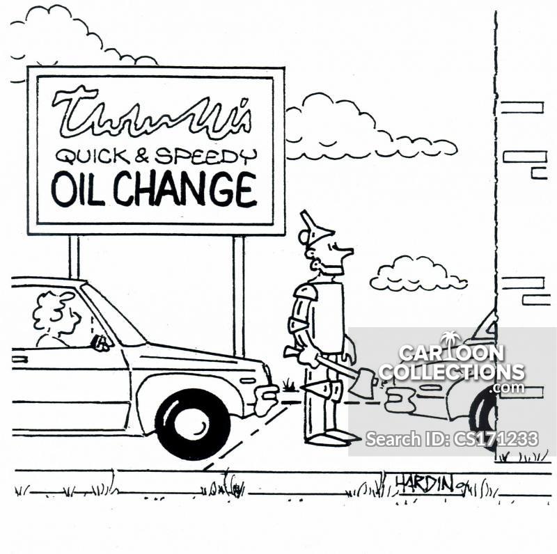 oil changer cartoon