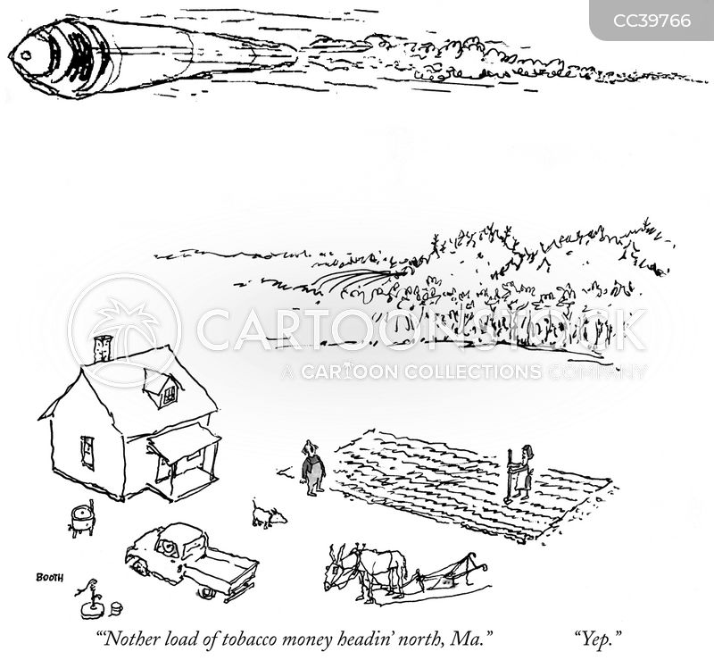 tobacco farm cartoon