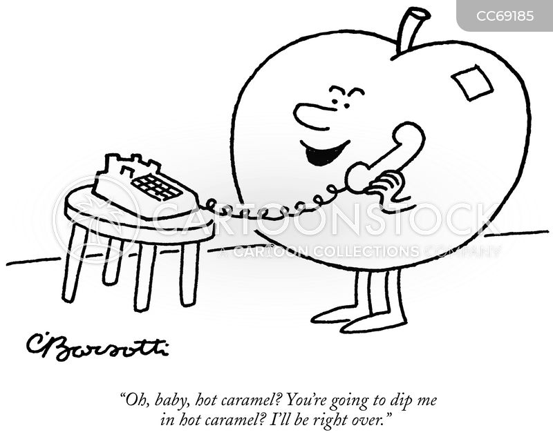 toffee apple cartoon
