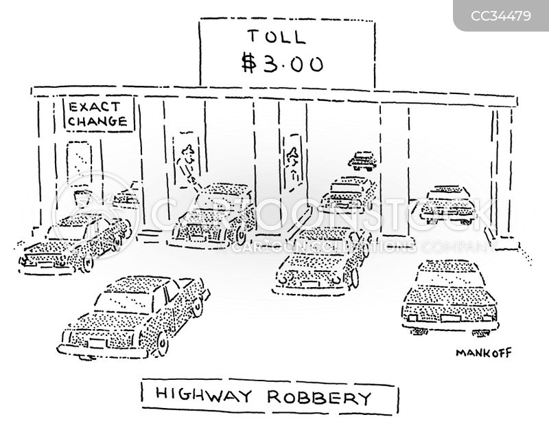 toll road cartoon