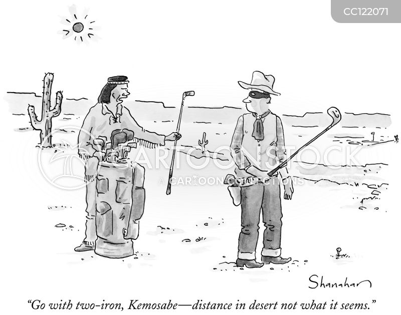 golf club selection cartoon