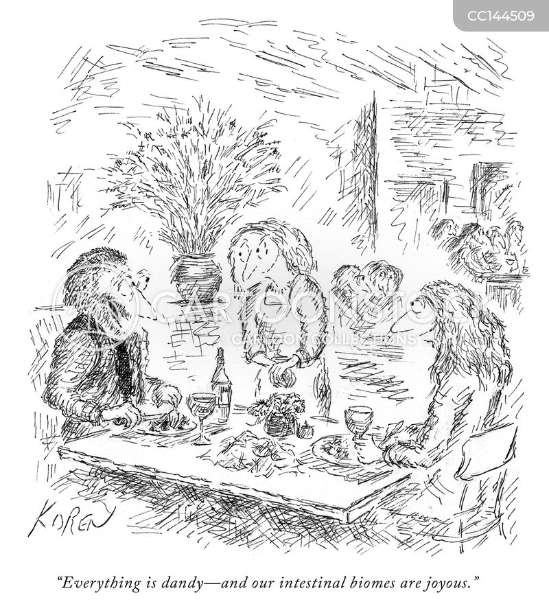 good meal cartoon