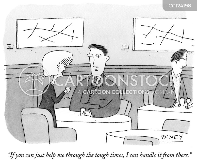 tough time cartoon