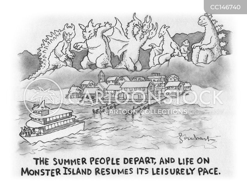 tourist season cartoon