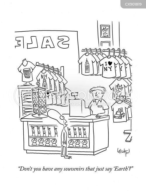 souvenir shop cartoon
