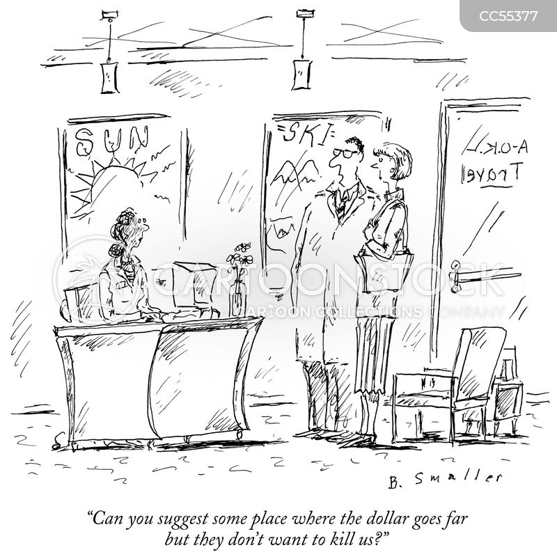 vacation destination cartoon