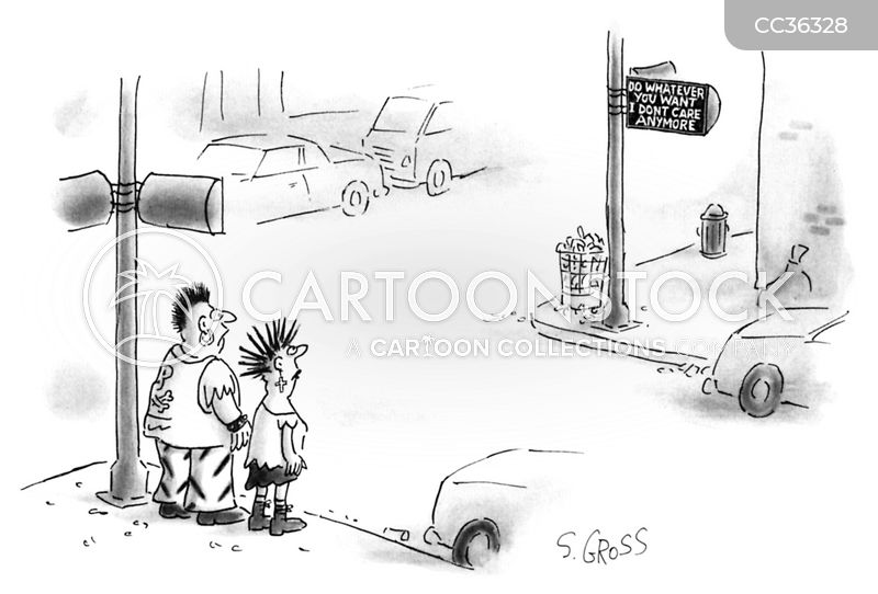 traffic cartoon