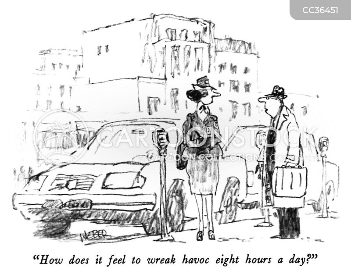 car parking cartoon