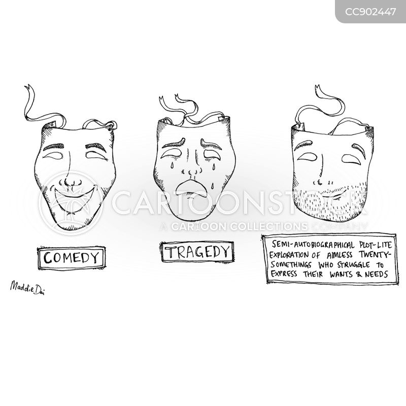 comedy mask cartoon