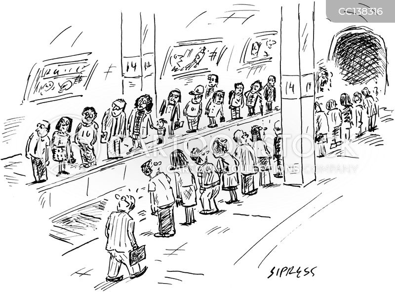 commuting cartoon