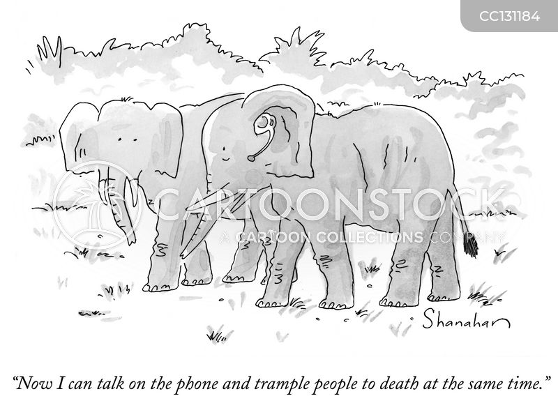 Phones cartoon