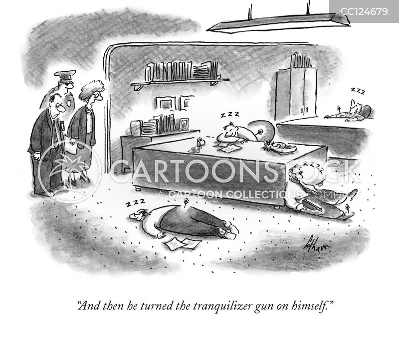 tranquilizer guns cartoon