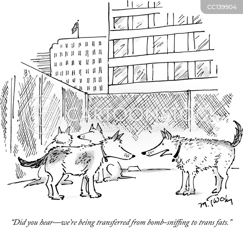 sniffer dogs cartoon