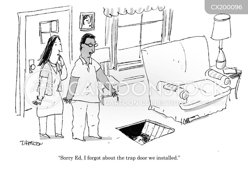 trap doors cartoon