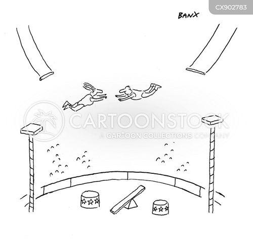 gymnasts cartoon