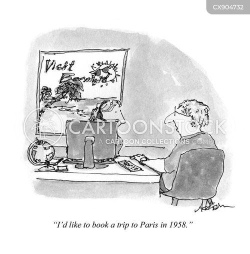 travel agency cartoon