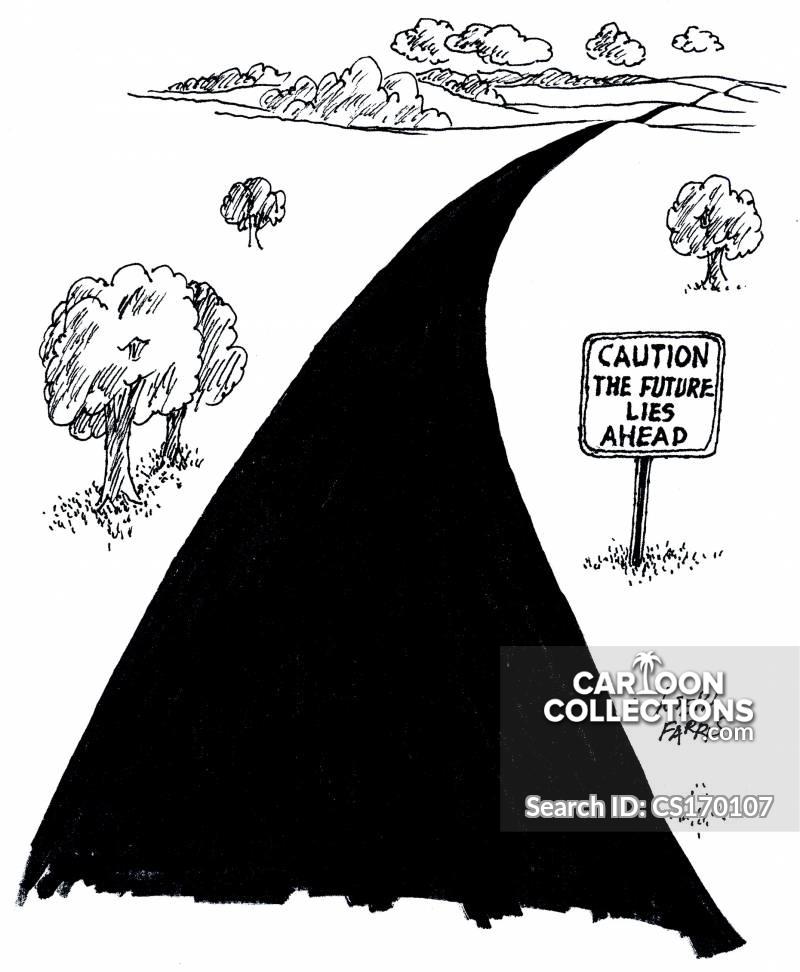 road caution cartoon