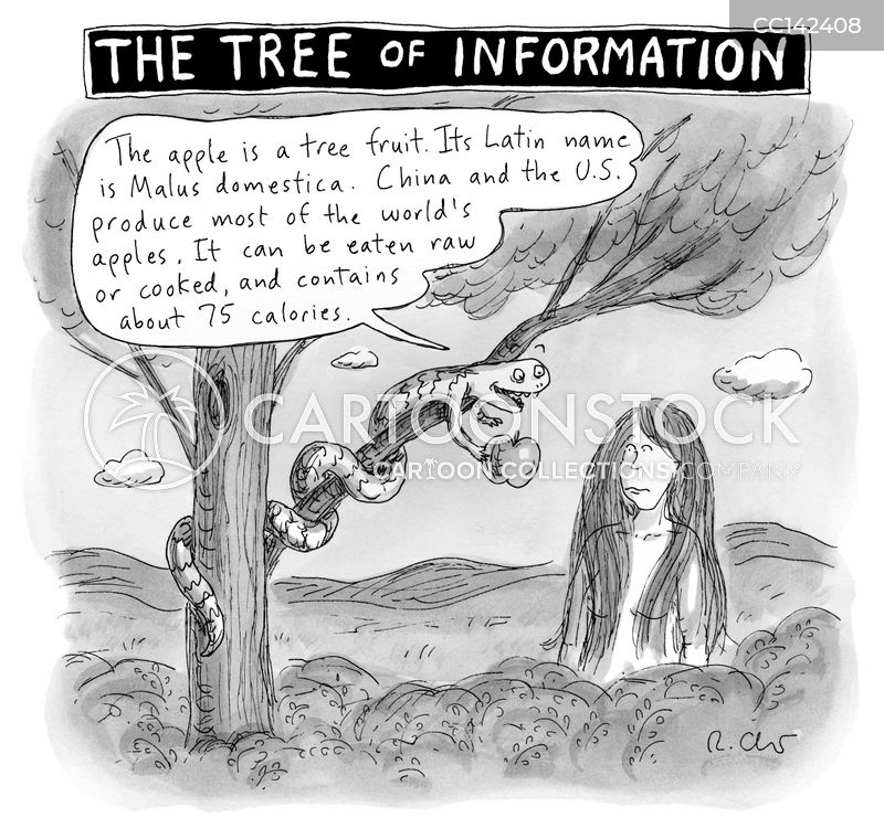 tree of knowledge cartoon
