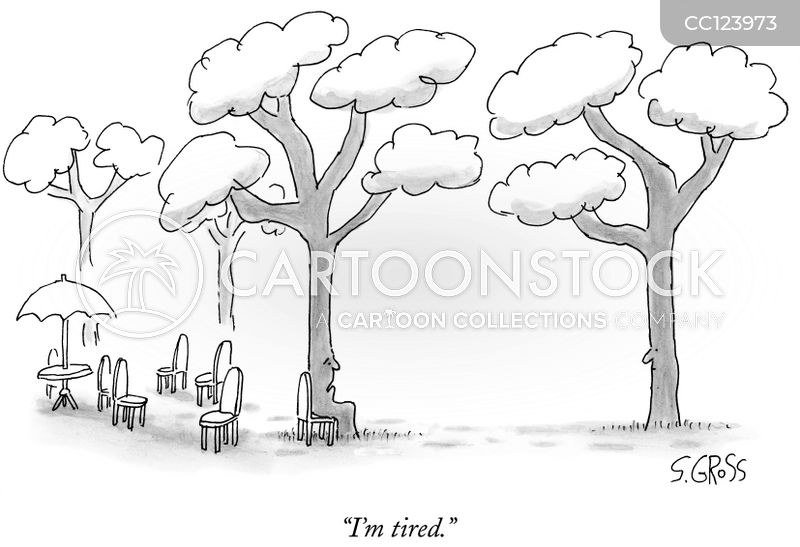 tired cartoon