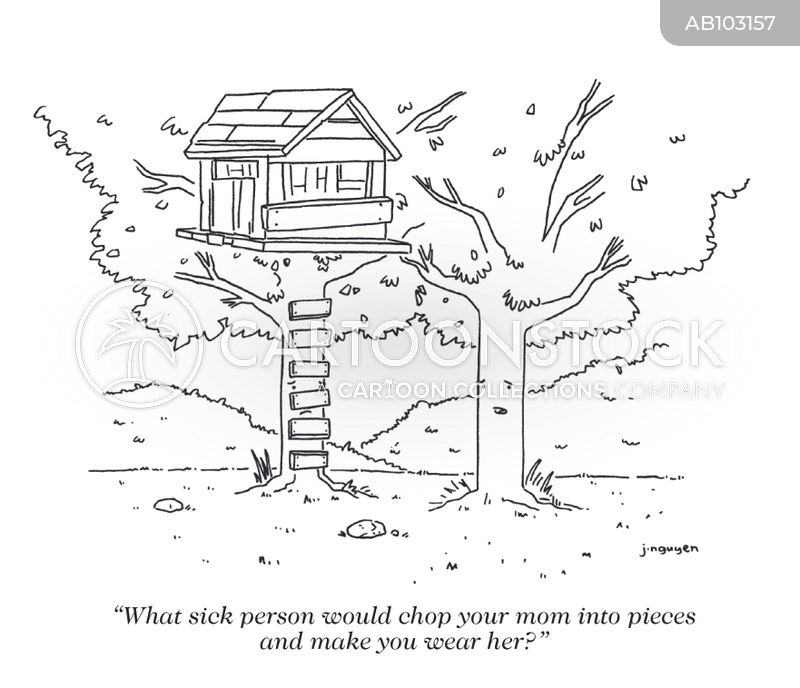 tree houses cartoon