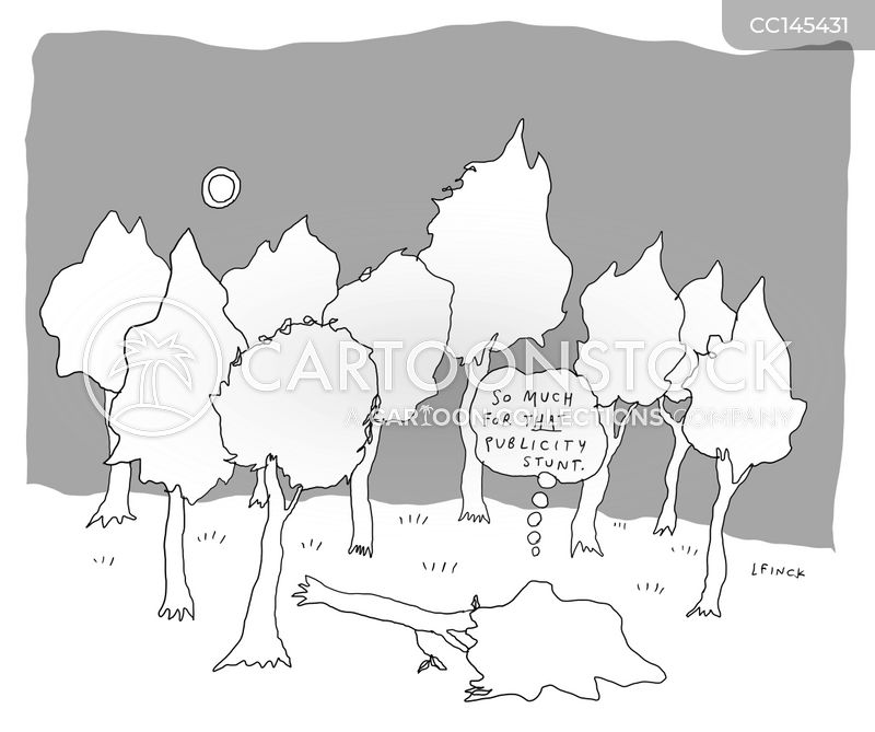 If A Tree Falls In The Forest cartoon