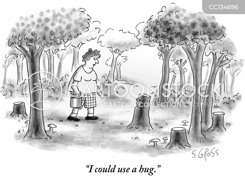 tree huggers cartoon