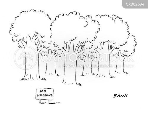deforestation cartoon
