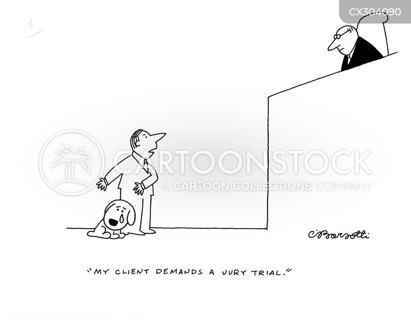 Jury Trial cartoon