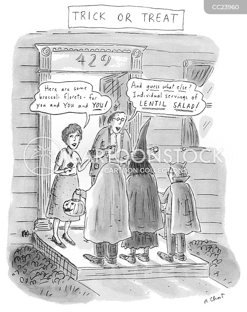 trick-or-treating cartoon