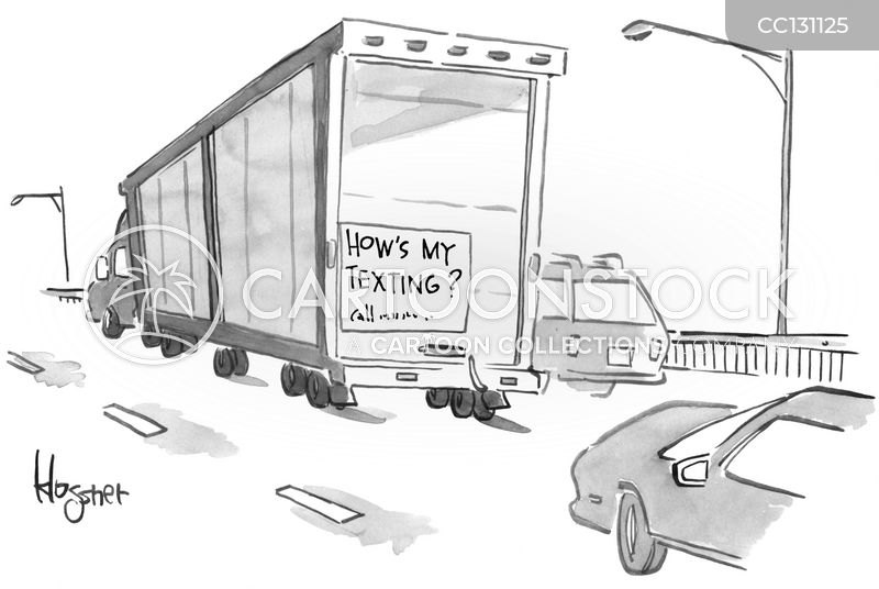 motorway driving cartoon