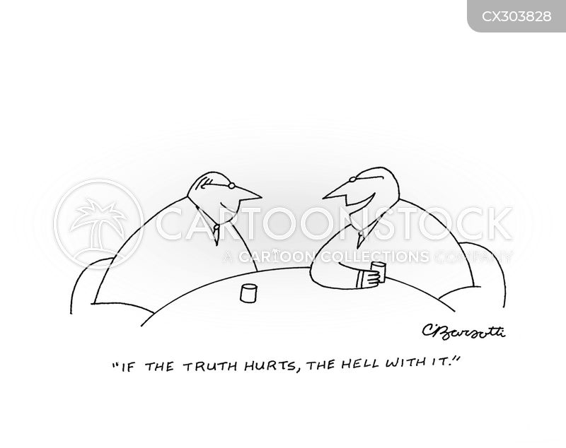 telling the truth cartoon