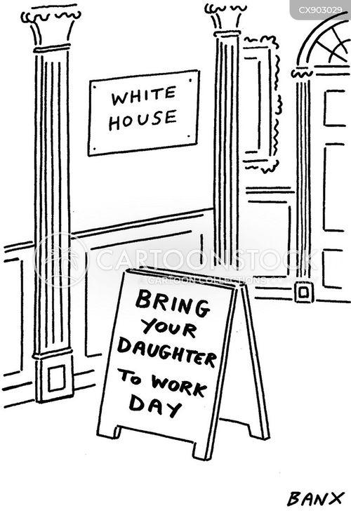 white house cartoon
