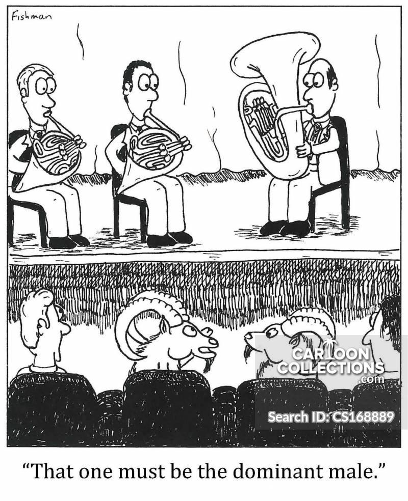 two horns cartoon