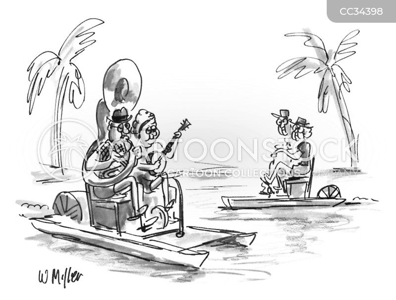 tuba players cartoon