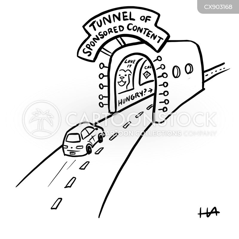 road tunnels cartoon
