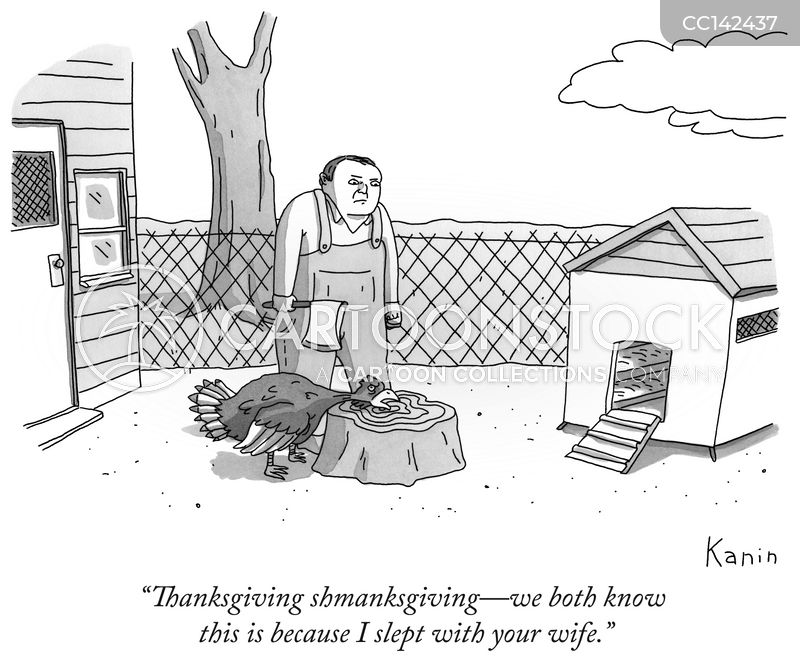 turkey dinner cartoon