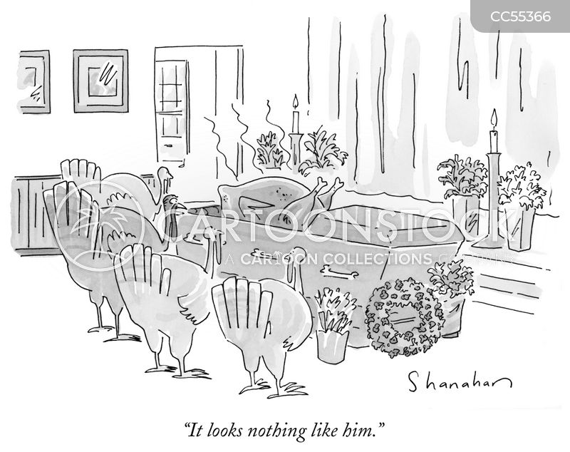 Roast Turkeys cartoon